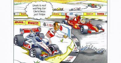 F1: Ecclestone tira sarro de Massa e Hamilton em cartão de Natal