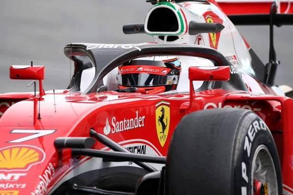 """F1: Kimi Raikkonen testa modelo """"Halo"""""""
