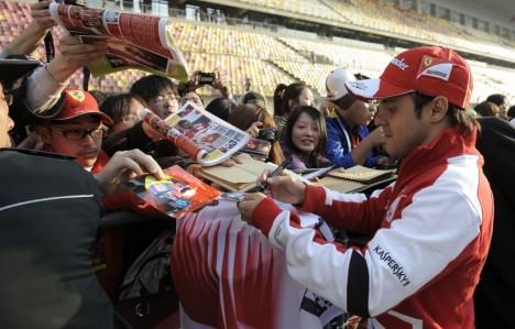 F1: Felipe Massa é o mais rápido nos treinos livres na China