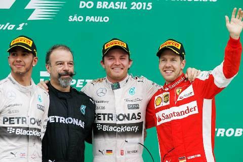 F1: Nico Rosberg domina GP do Brasil