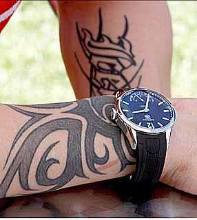 F1: Raikkonen tatua 'Iceman' no antebraço
