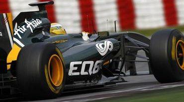 F1: Razia testa T128 do Team Lotus em Barcelona