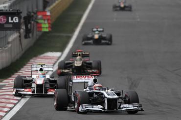 F1: Rubens ganha seis posições no GP da Coreia