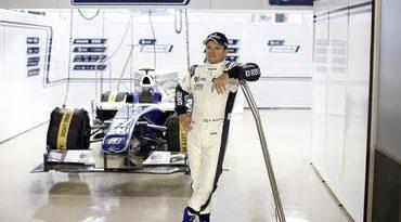"F1: Rubens Barrichello mostra a nova ""roupa"" para 2010"