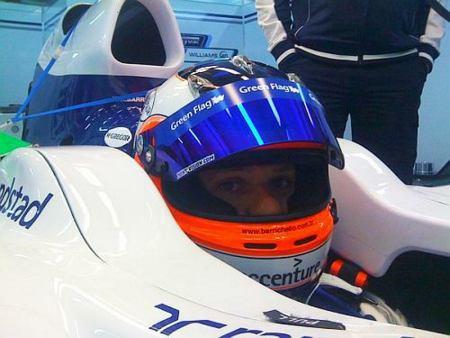 F1: Rubens Barrichello ajusta banco no novo carro da Williams