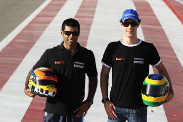 F1: Bruno Senna ouve motor do carro da HRT pela primeira vez