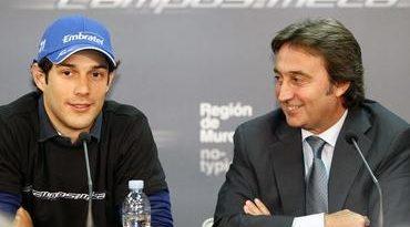 F1: Bruno Senna é apresentado pela Equipe Campos em Murcia