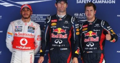 F1: Mark Webber marca a pole na Coreia do Sul