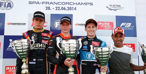 FIA F3 European: Max Verstappen vence as três provas em Spa-Francorchamps
