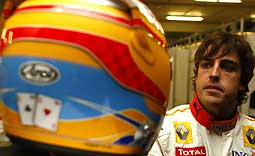 F1: Alonso apresenta capacete alusivo ao bicampeonato