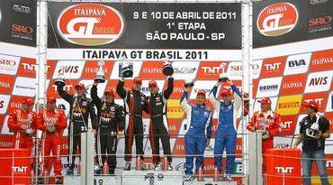 GT Brasil: Allam Khodair e Marcelo Hahn voltam a vencer na estreia do novo carro na GT3