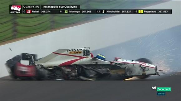 Indy500: Sébastien Bourdais fratura bacia e quadril em forte acidente em Indianápolis