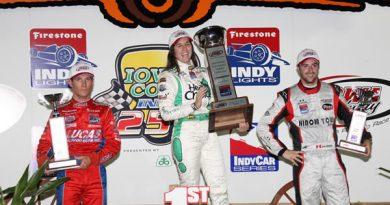 Indy Lights: Bia Figueiredo vence prova noturna em Iowa