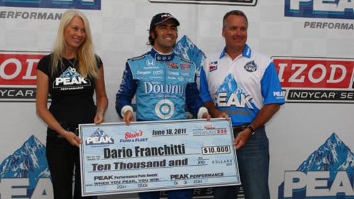 IndyCar: Dario Franchitti marca a pole em Milwaukee