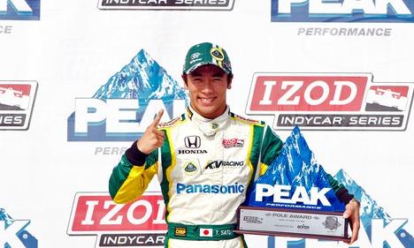 IndyCar: Em Iowa, Takuma Sato conquista a sua primeira pole