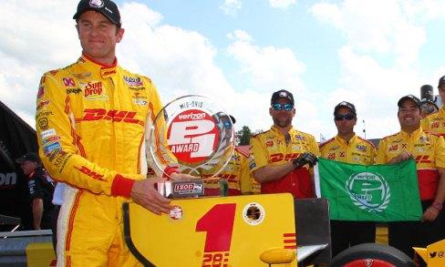 IndyCar: Ryan Hunter-Reay marca a pole em Mid-Ohio