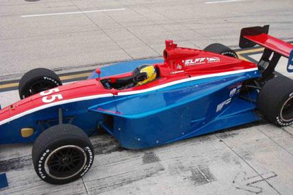 Indy Lights: Rodrigo Barbosa completou testes coletivos no Alabama (EUA)