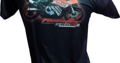 Motovelocidade: Roncar apresenta nova linha de camisetas