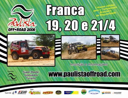 Rally: Rally Rota Brasil vale pela segunda etapa do Paulista de Off Road