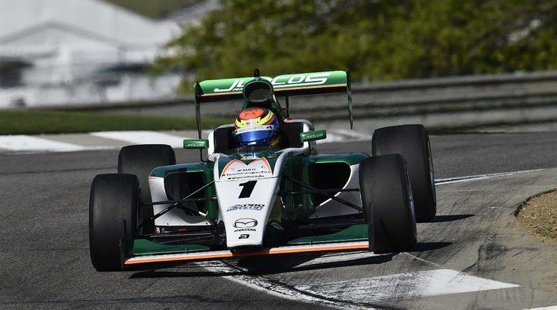 Pro Mazda: Carlos Cunha Filho é segundo no misto de Indianápolis