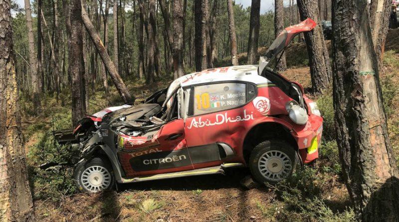 WRC: Após mais um violento acidente em Portugal, Citroën anuncia a saída Kris Meeke da temporada 2018