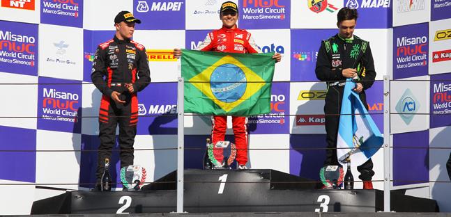 Fórmula-4 Italiana: Enzo Fittipaldi vence as três provas em Misano
