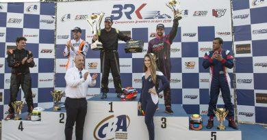 Brasileiro de Kart: Título e três pódios na 1ª fase do Brasileiro são motivo de festa na Mega Kart