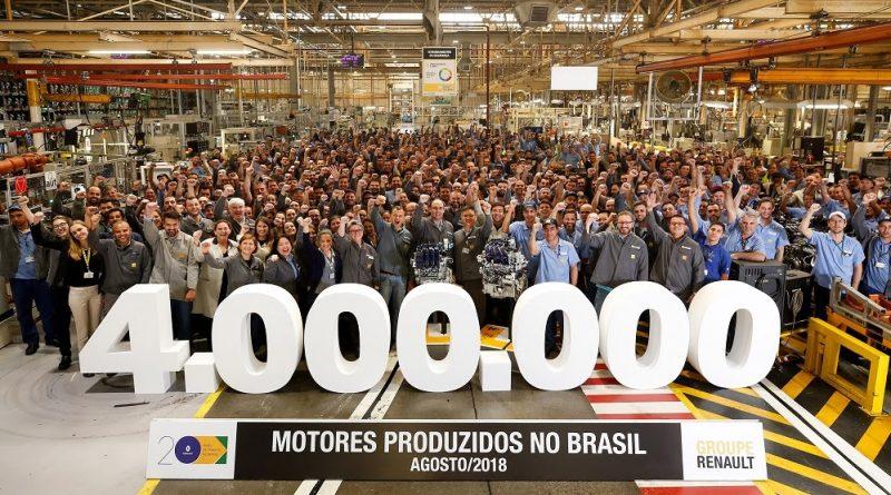 Renault alcança marca de 4 milhões de motores produzidos no Brasil