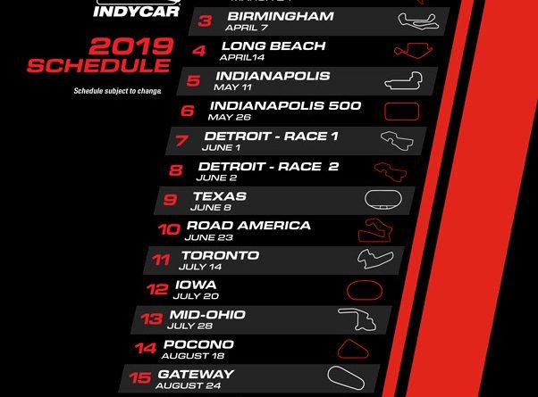 IndyCar: Confira o calendário para a temporada 2019