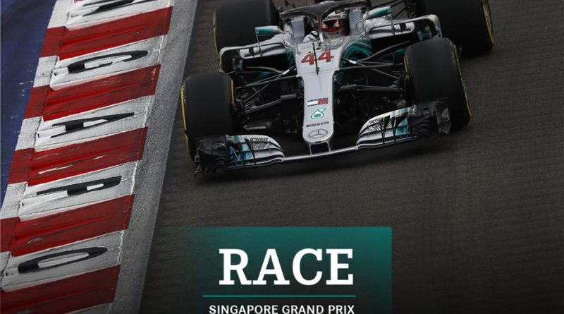 F1: Lewis Hamilton vence GP de Singapura
