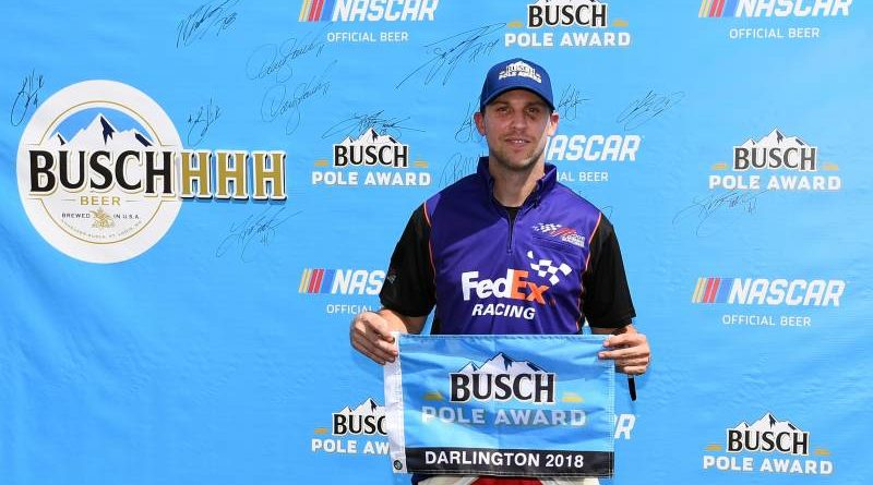 NASCAR Monster Energy Cup Series: Denny Hamlin marca a pole em Darlington