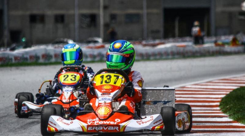 Gabriel Crepaldi iniciou a disputa pelo título da 20ª edição da Copa Brasil de Kart