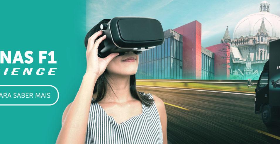 Petronas leva simulador da Fórmula 1 para ruas de SP
