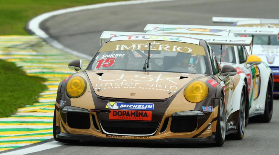 Leonardo Sanchez faz primeira prova na chuva ao estrear na Porsche Cup