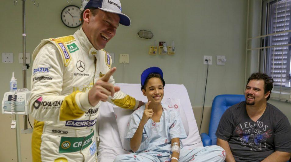 Copa Truck: Visita ao Hospital das Clínica dá energia extra para Cirino