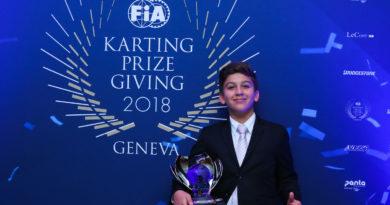 Na Suíça, Gui Figueiredo recebe prêmio na Cerimônia da FIA por top-3 no Troféu Academy