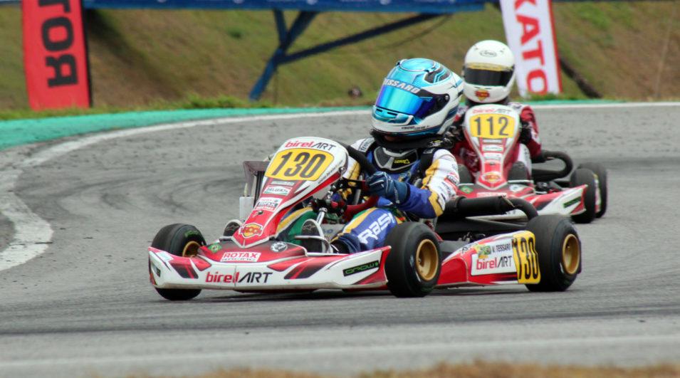 Kart: Vinícius Tessaro ficou fora da disputa pelo título do Rotax Max Finals por problemas de motor