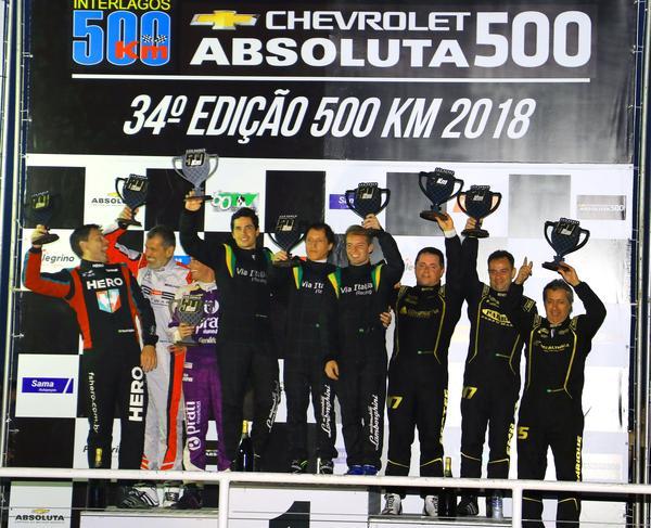 500 Km de São Paulo - Chevrolet Absoluta 500: Vitória do Lamborghini de Longo, Gomes e Franzoni