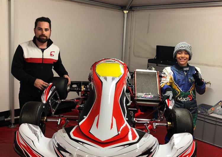 Kart: Vinícius Tessaro desembarcou na Itália para dar início a uma nova fase em sua carreira
