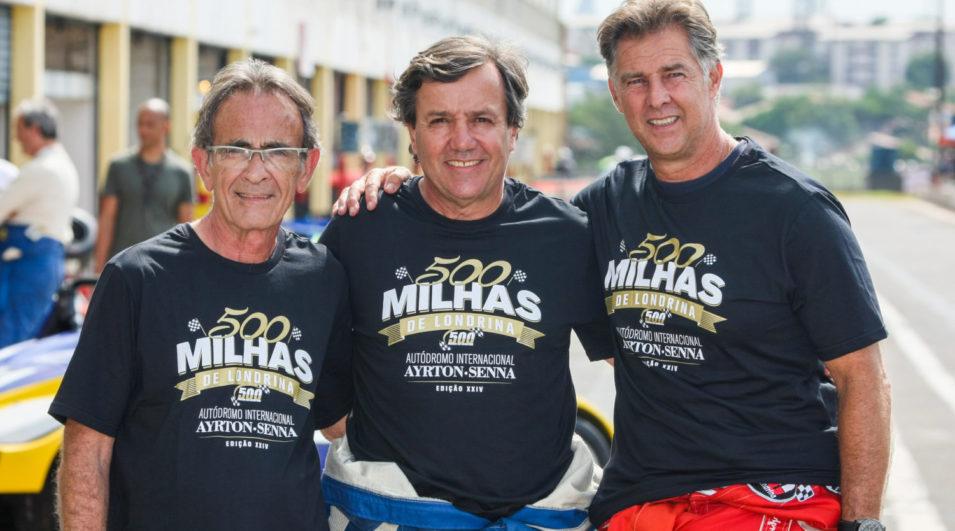 Daniel Procópio, Aloysio Moreira e Beto Borghesi, promotores das 500 Milhas de Londrina