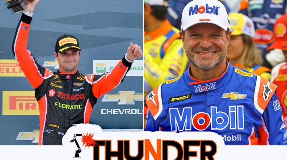 Nelsinho Piquet e Rubens Barrichello